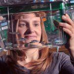 Sandra Rieger PhD with zebrafish